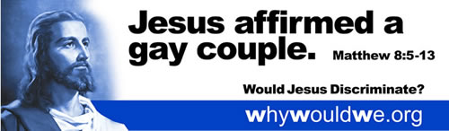 Jesus affirmed gay couple